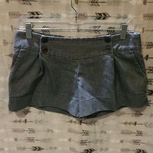 Lux blue and white nautical shorts UO 5
